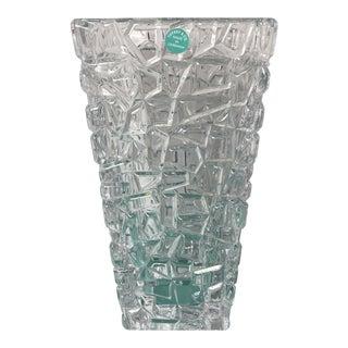 "Nib Tiffany & Co Sierra Square 9.5"" Flower Vase For Sale"