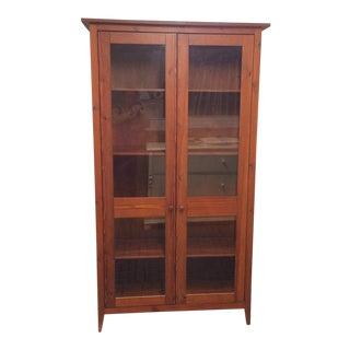 Contemporary Wood Bookcase/Cabinet For Sale