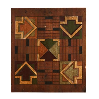 Antique Parcheesi Game Board For Sale