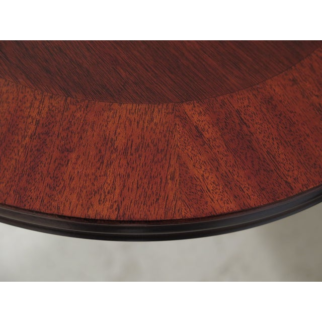 Queen Anne Queen Anne Henkel Harris Banded Mahogany Dining Room Table For Sale - Image 3 of 12