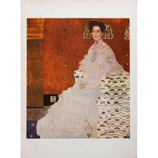 """1964 Gustav Klimt """"Portrait of Fritza Riedler"""" and """"The Apple Tree"""" Photogravures For Sale"""