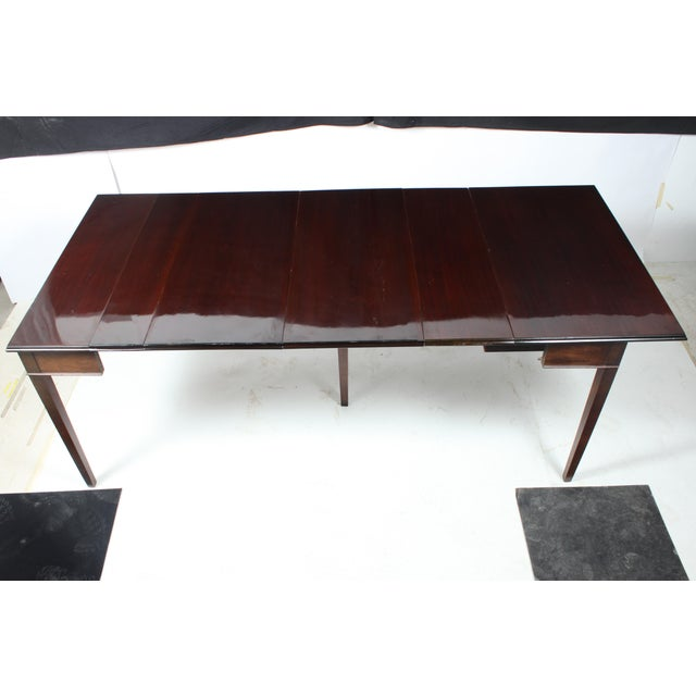 Mahogany Drop Leaf Dining Table For Sale - Image 4 of 8