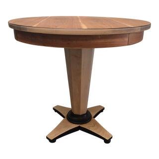 Biedermeier Style Pedestal Table For Sale