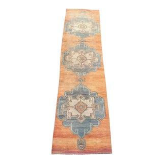 Oushak Handmade Vintage Runner Rug - 2′9″ × 11′5″ For Sale