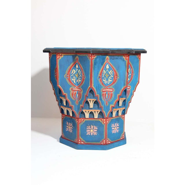 Moorish Star Shape Blue Side tables - A Pair For Sale - Image 12 of 13