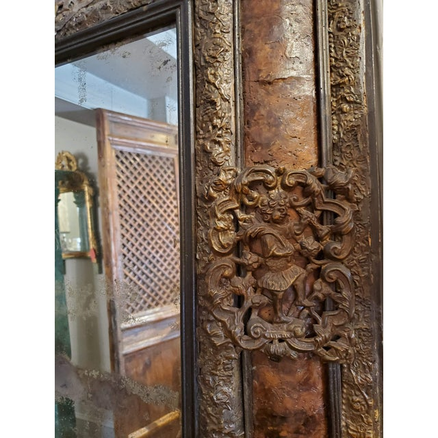 17th Century Cushion Moulded Dutch Mirror For Sale In Washington DC - Image 6 of 9