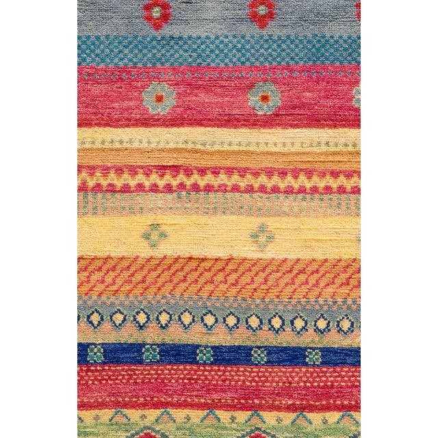 """Primitive Lori, Hand Knotted Area Rug - 6'1"""" X 9'2"""" For Sale - Image 3 of 3"""