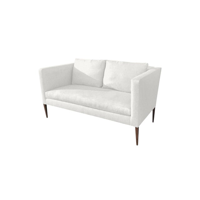 "Slant LA Custom to Order ""The White Series"" Collection Loveseat For Sale - Image 4 of 5"