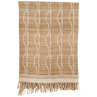 Indian Handwoven Throw Vertical Jaal For Sale