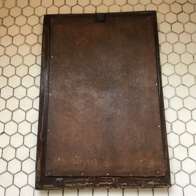 Glass Vintage Indian Archway Painted Teak Mirror For Sale - Image 7 of 11