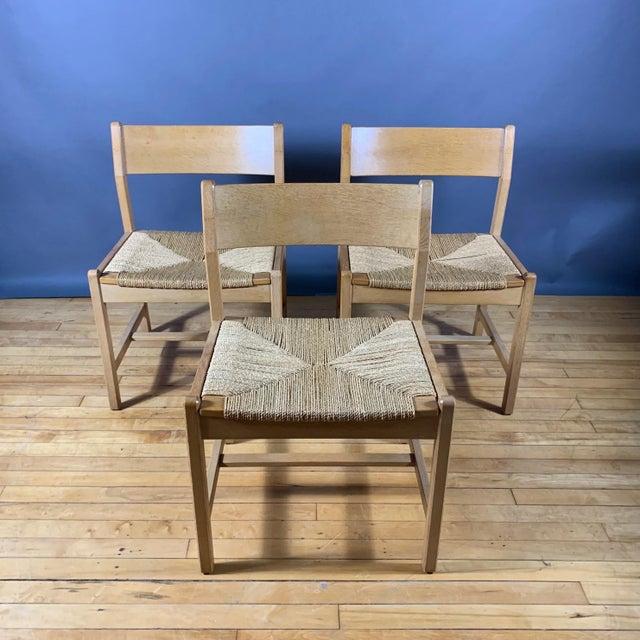 Børge Mogensen Børge Mogensen Bm2 Oak & Papercord Dining Chairs, Denmark 1960s For Sale - Image 4 of 13