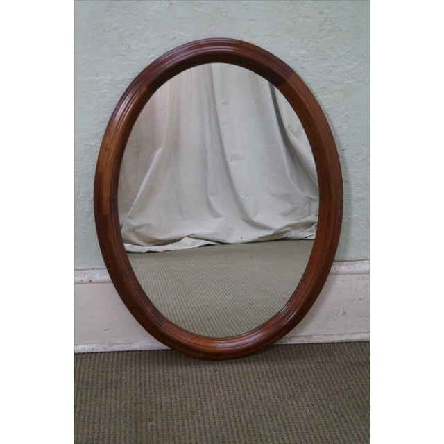 Stickley Cherry Valley Oval Mirror - Image 2 of 5
