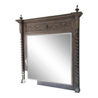 Painted Barley Twist Trumeau Mirror For Sale
