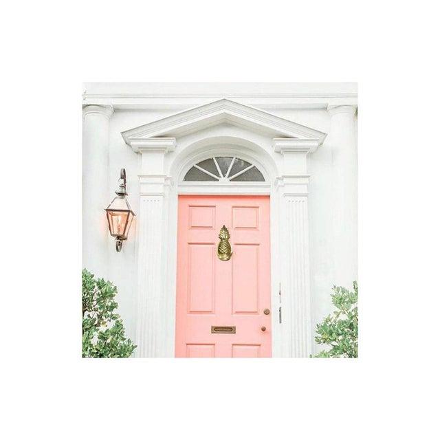 1980s 1980s Hollywood Regency Brass Pineapple Door Knocker For Sale - Image 5 of 9