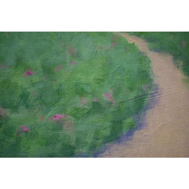 "Contemporary ""Path Through the Beach Roses"" Contemporary Painting by Stephen Remick For Sale - Image 3 of 11"
