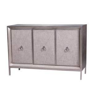 Mirrored & Linen Cassidy Sideboard
