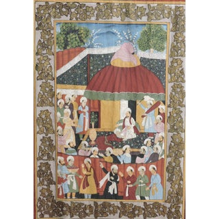 Fine Ottoman Empire Style Painted Double Silk Wall Hanging, the Ruler's Residence Preview