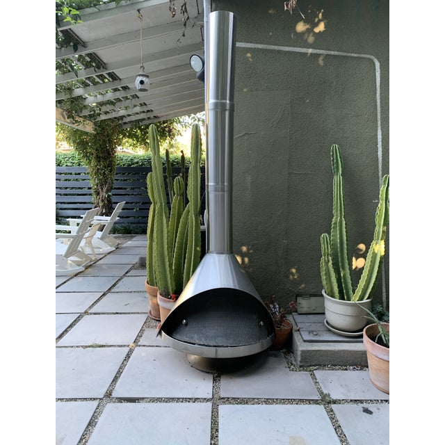Malm Stainless Steel Outdoor Fireplace Chairish