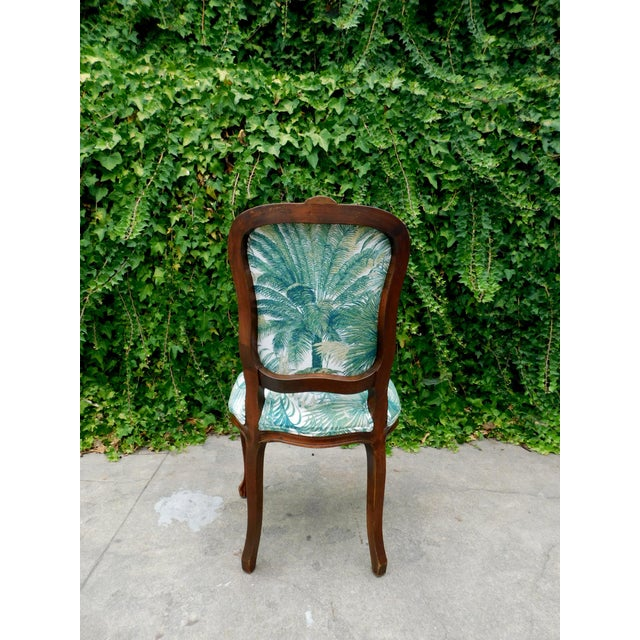 Italian Carved Wood Botanical Accent Chair For Sale - Image 4 of 10