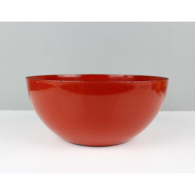 Red l Finland Red Enamel Bowl Kaj Franck Mid Century Modern For Sale - Image 8 of 8