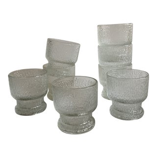 Indiana Glass Bark Double Old Fashioned Glasses - Set of 8 For Sale