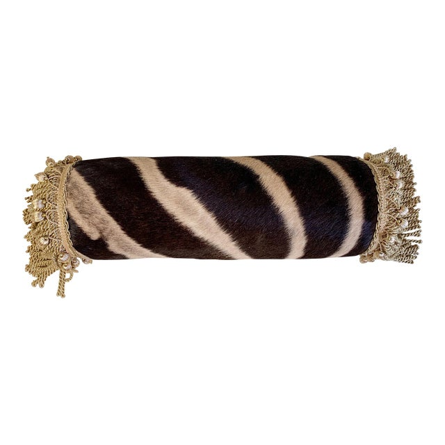 """One of a Kind Zebra Pillow, 24.5"""" For Sale"""