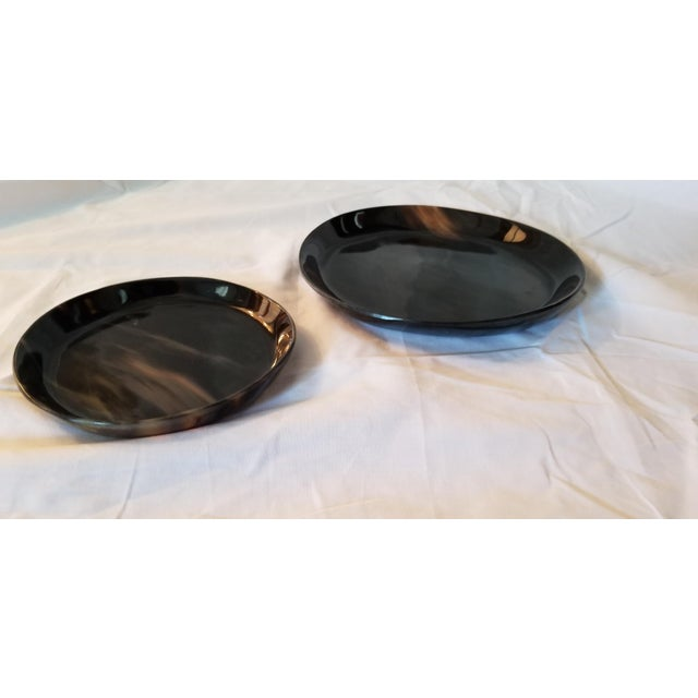Lewes Round Tray Set - a Pair For Sale - Image 4 of 8