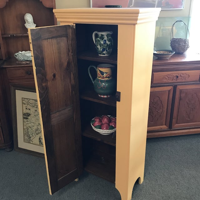 Country Yellow Pine Cupboard For Sale - Image 5 of 6