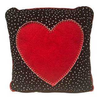 Keith Haring Inspired Pop Art Heart Pillow