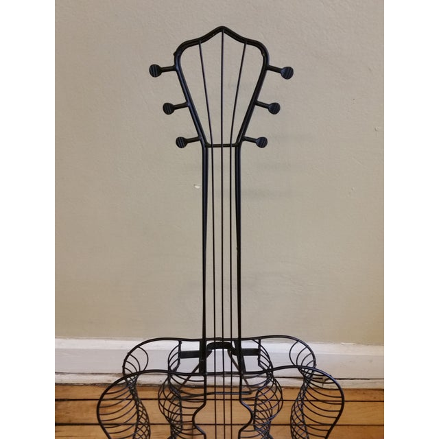 Vintage Metal Guitar Sculpture - Image 4 of 7