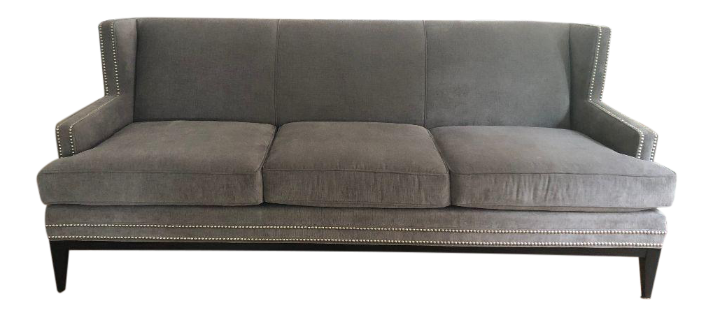 Mitchell Gold Bob Williams Slate Gray Tasha Sofa Chairish