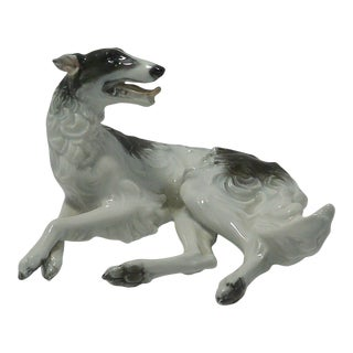 Vintage 1934 Rosenthal Borzoi Dog by F. Heidenreich For Sale