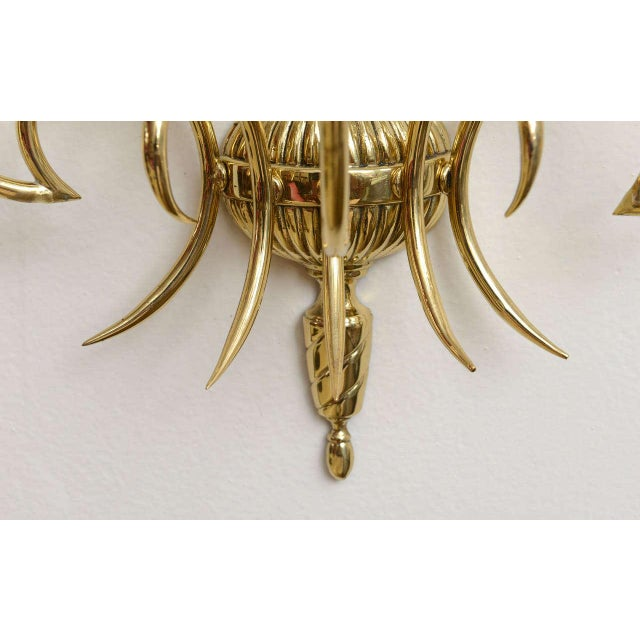 1950s Italian Brass Sconces - Pair For Sale - Image 5 of 9