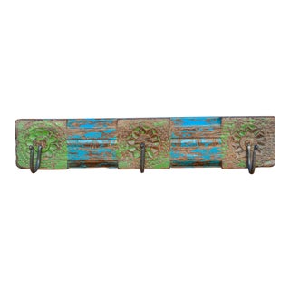 Vivid Lime and Blue Wall Hook For Sale