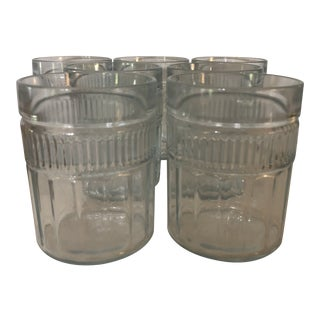 Mid-Century Anchor Hocking Annapolis Double Old Fashioned Glasses - Set of 7 For Sale