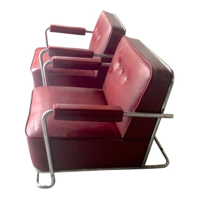 Thonet Frères by René Coquery Documented Modernist Pair of Club Chairs For Sale