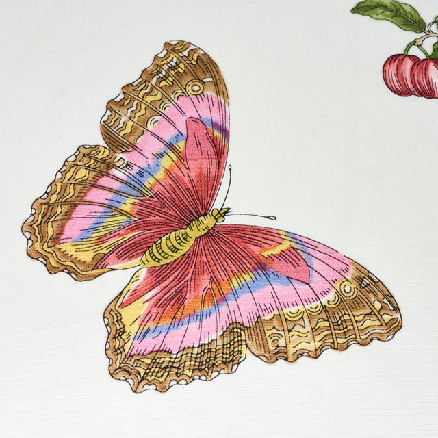 Contemporary Schumacher Baudin Butterfly Chintz Pillow in Blush For Sale - Image 3 of 6