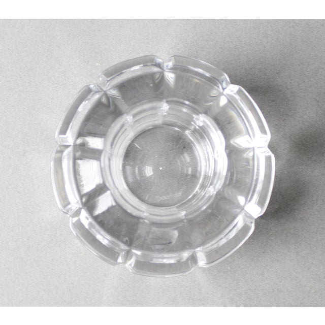 Orrefors Sweden Round Crystal Candle Holder | Chairish