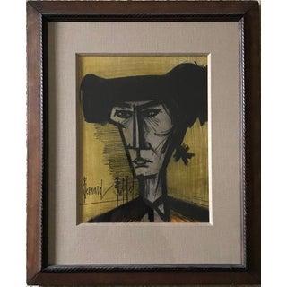 """Bernard Buffet """"Torero"""" Framed Lithograph For Sale"""