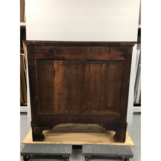 Early 19th Century Dutch Hardwood Inlaid Four Drawer Chest For Sale - Image 4 of 13