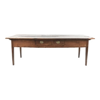 Antique Farm Table-Center Drawer-6.5'