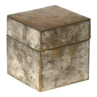 Vintage Brass Hinged Lid Box