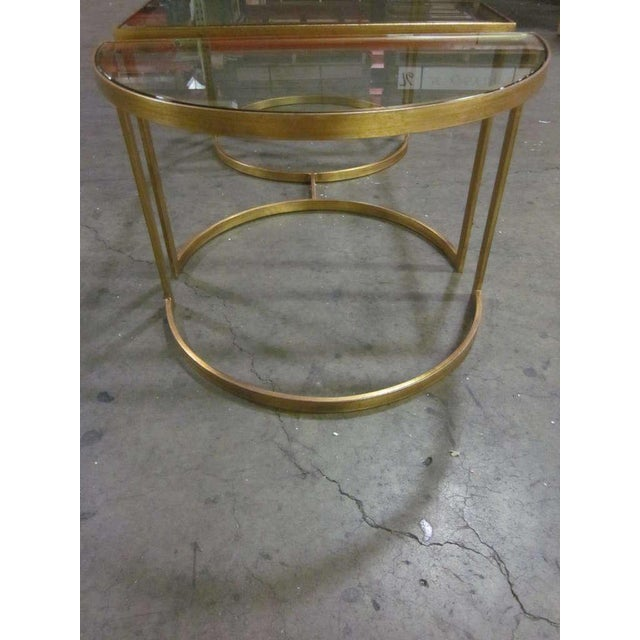 Italian Italian Gilt Iron Cocktail Table in the Style of Maison Bagues For Sale - Image 3 of 7