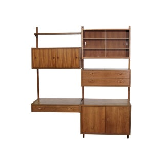 Mid Century Danish Teak Shelving Unit by Ps Systems For Sale