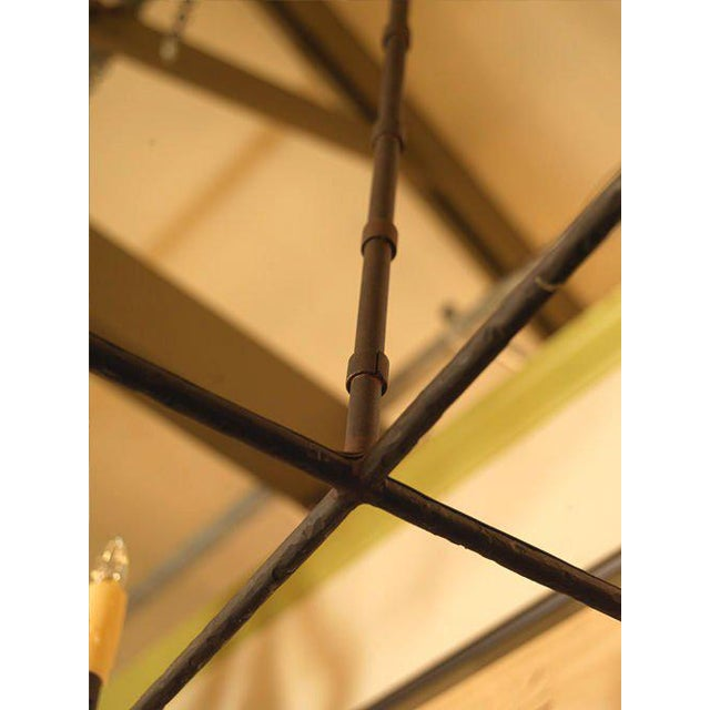 """2010s Customizable """"Guernesy"""" Hand-Wrought Custom Iron Chandelier For Sale - Image 5 of 7"""