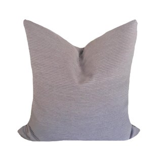 Kravet Couture Smoky Lavender Ribbed Pillow For Sale
