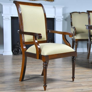 Tall Back Upholstered Arm Chairs - Pair Preview
