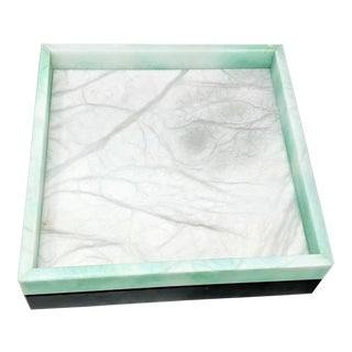 Hermes Inspired Alabaster Tray For Sale