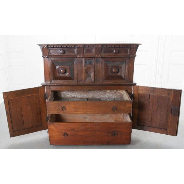 Brown English 17th Century Charles II Oak Chest of Drawers For Sale - Image 8 of 13