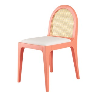 Juliette Dining Chair - Coral Gables, Optic White Linen For Sale